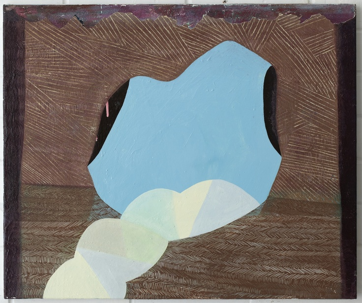 Adrienne Vaughan, Monith, 2011, Oil and enamel on canvas, 605 x 505mm