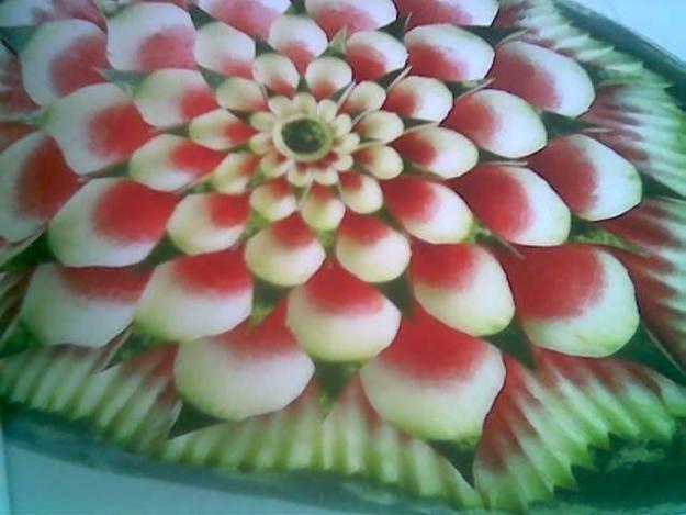 Flores con frutas