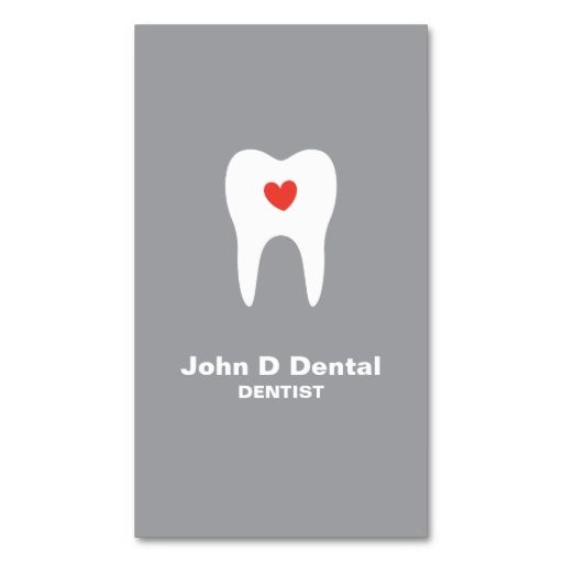 Tooth and heart gray dental dentist business card. I love this design! It is available for customization or ready to buy as is. All you need is to add your business info to this template then place the order. It will ship within 24 hours. Just click the image to make your own!