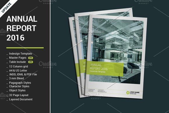 Annual Report 2016 by alimran24 on @creativemarket