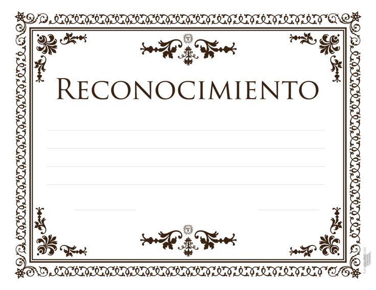 formatos para reconocimientos editables