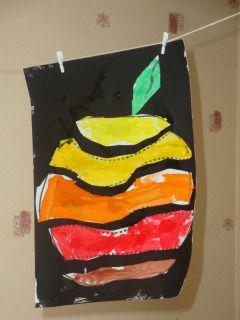 Peinture du puzzle de la pomme |