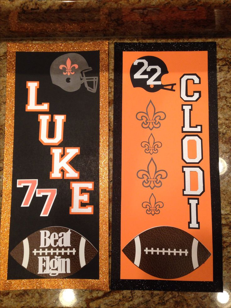 Football locker signs week 2