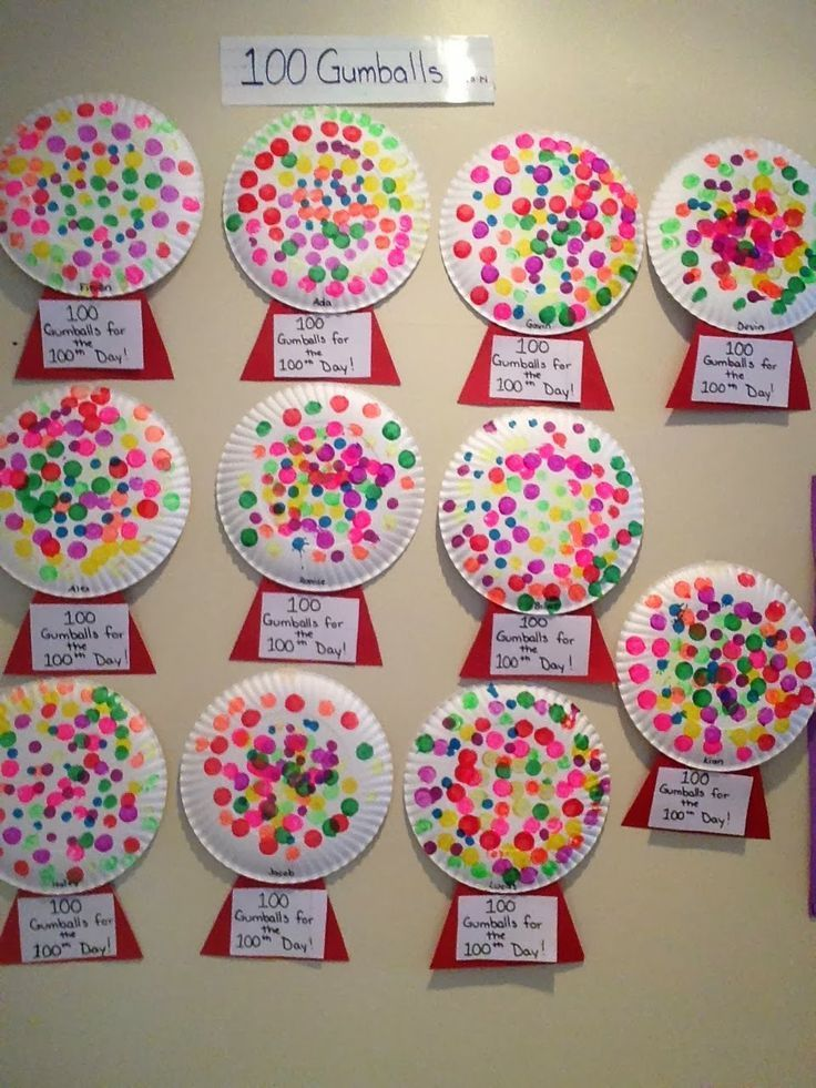 Activity for the 100th day of school! Preschool and pre-k