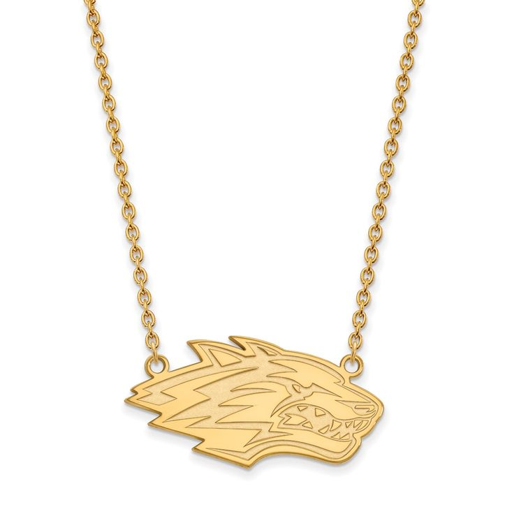 14ky LogoArt University of New Mexico Pendant with Necklace