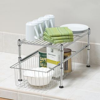 @Overstock - Seville Classics UltraZinc Mini Basket/Shelf Organizer - 11.5x17.5x10 - Use your vertical space wisely on countertops and in cabinets with this Seville Mini Basket Organizer. This countertop, cabinet or under-the-sink storage unit will be the solution to your organizing and storage needs for your kitchen or pantry.   http://www.overstock.com/Home-Garden/Seville-Classics-UltraZinc-Mini-Basket-Shelf-Organizer-11.5x17.5x10/9150594/product.html?CID=214117 $27.99
