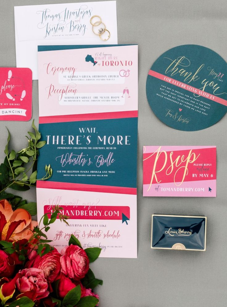 how long does it take to get wedding invitations made%0A Bold  moody colors are THE trend for      weddings  Check out invitation  suites