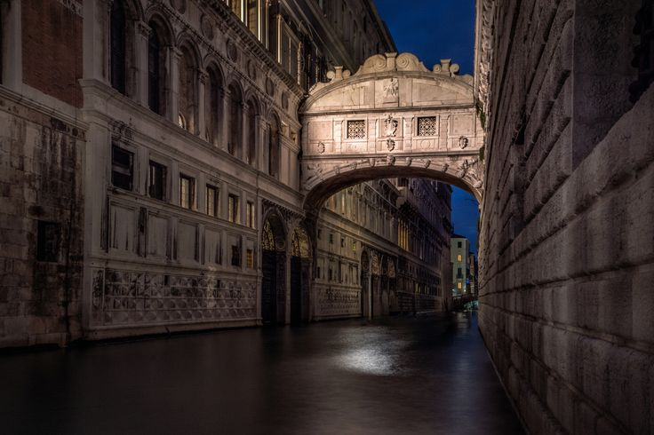 The Sigh At Night - The Bridge of Sighs, Venice.