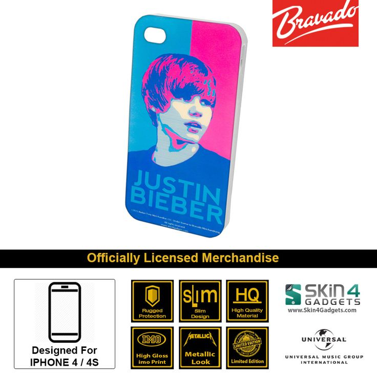 Buy Justin Bieber Face Mobile Cover & Phone Case For IPhone 4 at lowest price online in India only at Skin4Gadgets. CASH ON DELIVERY AVAILABLE