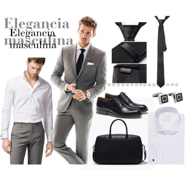Traje para hombre by cbccbc on Polyvore featuring moda and Zara