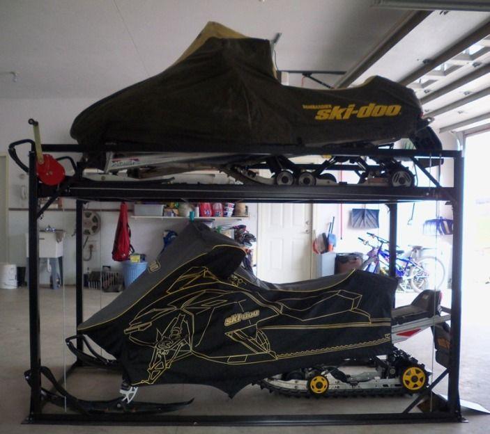 Snowmobile Rack, ATV Rack, Snowmobile Storage WI, ATV Storage WI