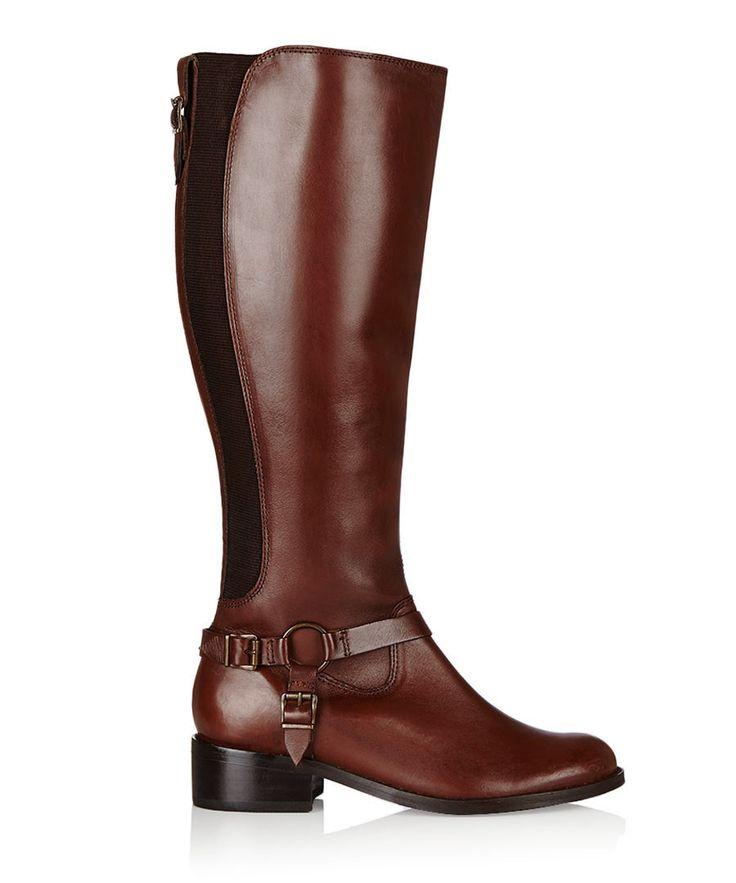 Petra tan leather riding boots by Carvela Kurt Geiger on secretsales.com