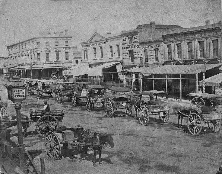 Bourke St,Melbourne in Victoria in 1860.