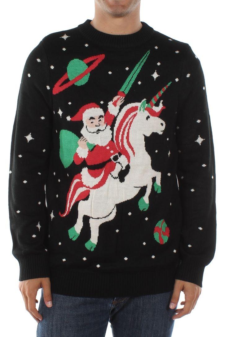 Men's Santa Unicorn Sweater | Tipsy Elves