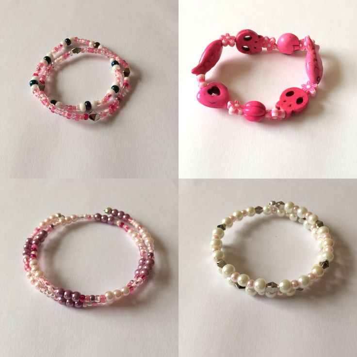 Kiddies gemstone bracelets