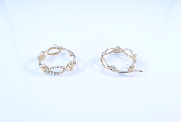 $174 14K Gold Earrings, info@bijuterie-online.ro.