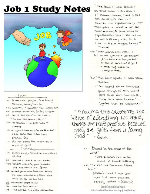 Doodle Through The Bible: Job 1 Free coloring page available at the website.