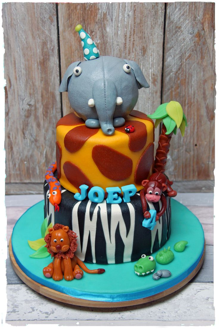 Elephant Jungle cake | Olifant Jungle taart | Made by SimplySweet.nl