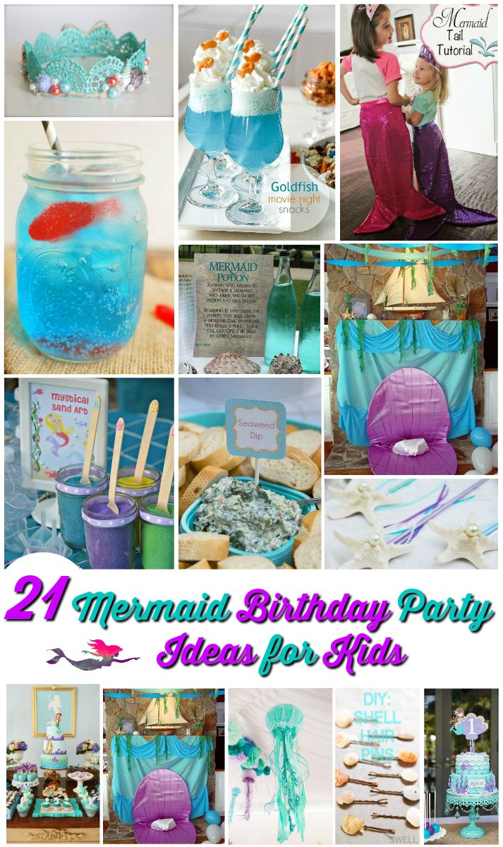 Here are 21 Mermaid Party Ideas for Kids that will make your child's party go swimmingly awesome. From Party Invites to cool Birthday Cakes take a look now.