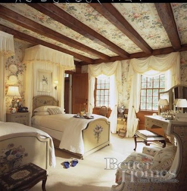 963 best cottage bedrooms images on pinterest bedroom for Country cottage bedroom