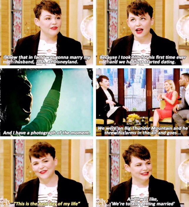 """I wish Lana had turned up to Josh and Ginny's wedding late in her Evil Queen costume had gone """"sorry I'm late"""""""