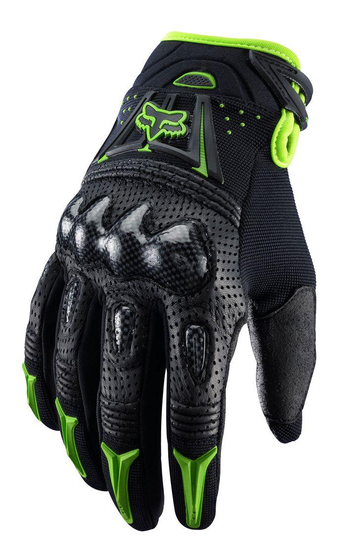 Fox Handschuhe Bomber Black/Green 2014