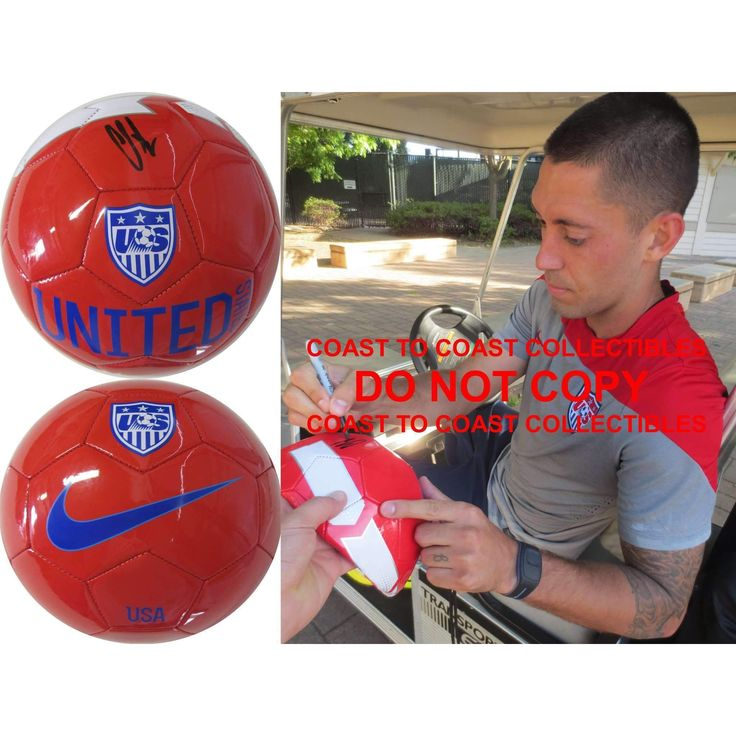 Clint Dempsey, Seattle Sounders, USA Mens Soccer Team, 2014 FIFA World Cup, Signed, Autographed, USA Logo Soccer Ball, a COA with the Proof Photo of Clint Signing the Ball Will Be Included
