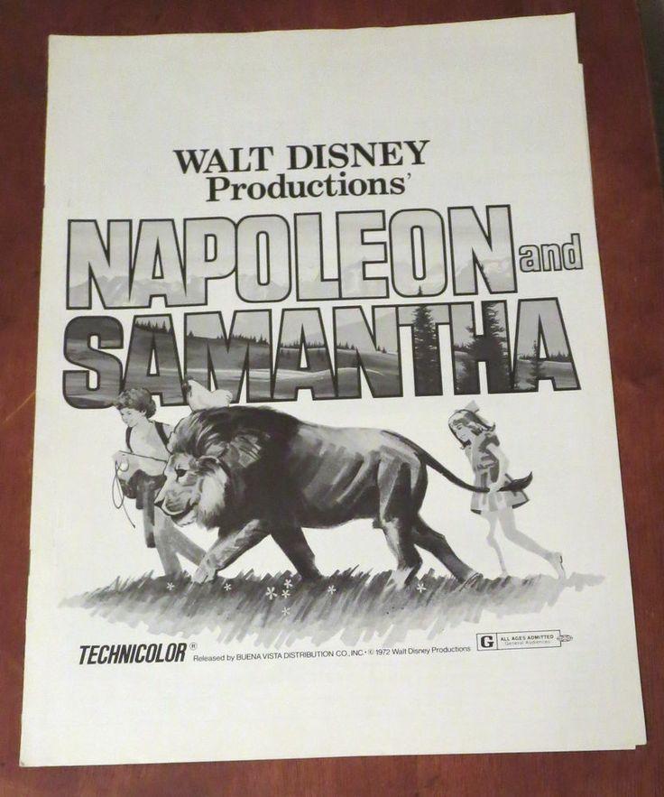 NAPOLEON AND SAMANTHA   1972 PRESSBOOK--JODIE FOSTER, MICHAEL DOUGLAS