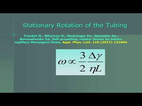 Almost Perpetuum Mobile driven by Marangoni Flows (Professor Bormashenko, Ariel University) - YouTube