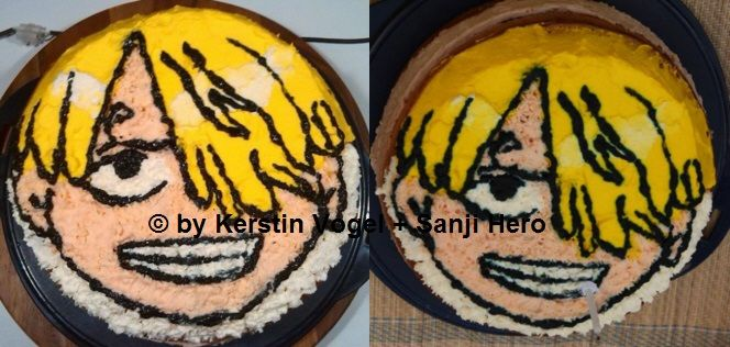 Sanji - The one piece Cosplay-Torte