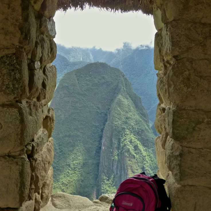 On top of Machu Picchu - looking out.