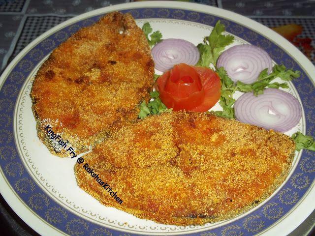 Raksha 39 s kitchen spicy king fish fry recipes to try for King fish recipe