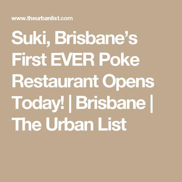 Suki, Brisbane's First EVER Poke Restaurant Opens Today! | Brisbane | The Urban List