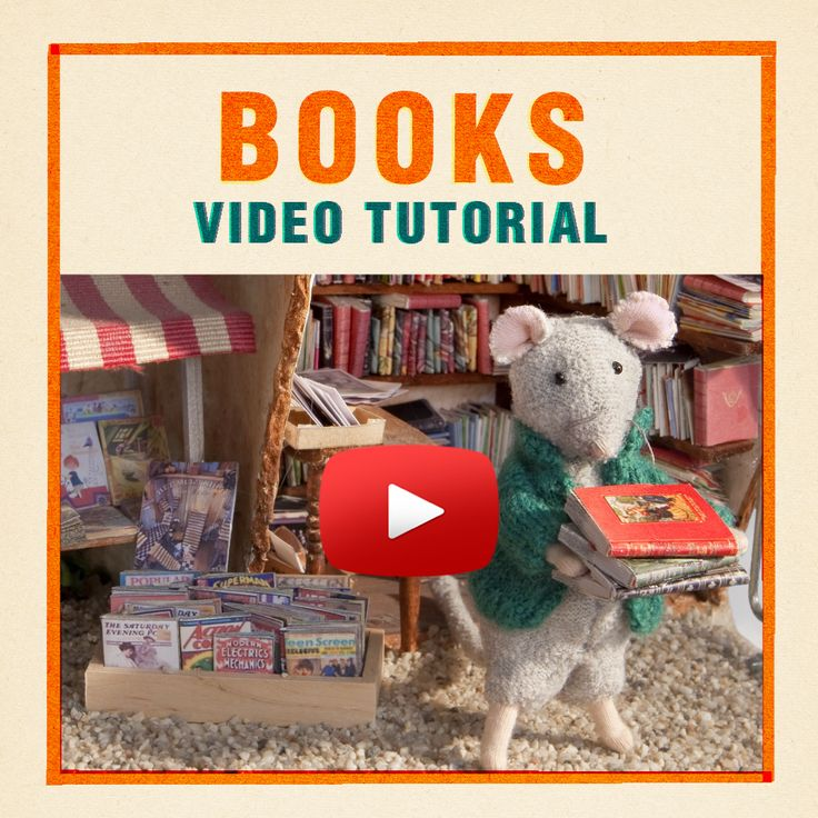 In this video Lili will show you how to make miniature books. She uses several different techniques and uses our own 'Books Printable' that is available for download. Mini books are super easy to make and they will bring your Mouse Mansion to life!
