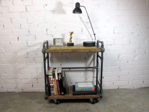 Designer REGAL Bücherregal Holzregal BAUHAUS LOFT INDUSTRIE DESIGN Gerüstbohlen | eBay
