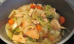 Potée de chou chinois et poulet : Diet & Délices - Recettes dietétiques