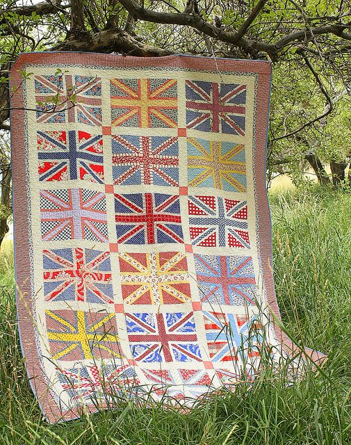 Union Jack Quilt by amy smart, via Flickr   speaks to my anglophilic heart!