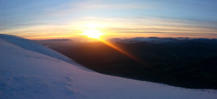 Sunset from the top of Nephin Mountain.