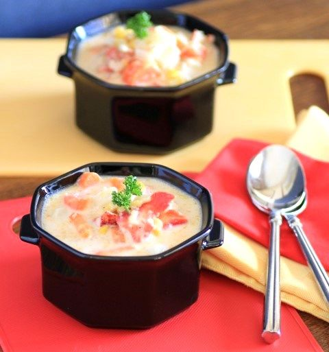 Lobster and Roasted Corn Chowder