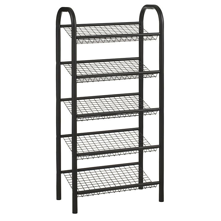buy john lewis 5 tier shoe rack black online at