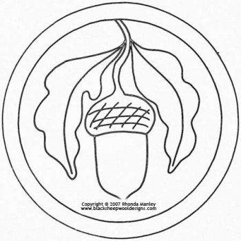 Acorn Mat Quilt Pattern 꽃 Pinterest