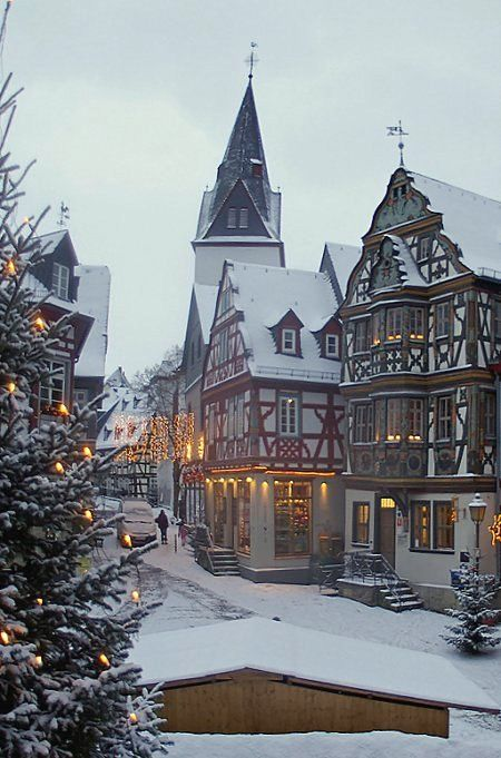 Germany Travel Inspiration - Idstein at Christmas time - Hesse, Germany (by Lutz Koch)