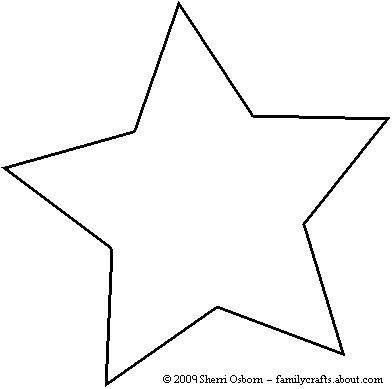 photo regarding American Flag Star Template Printable known as star cutout template -