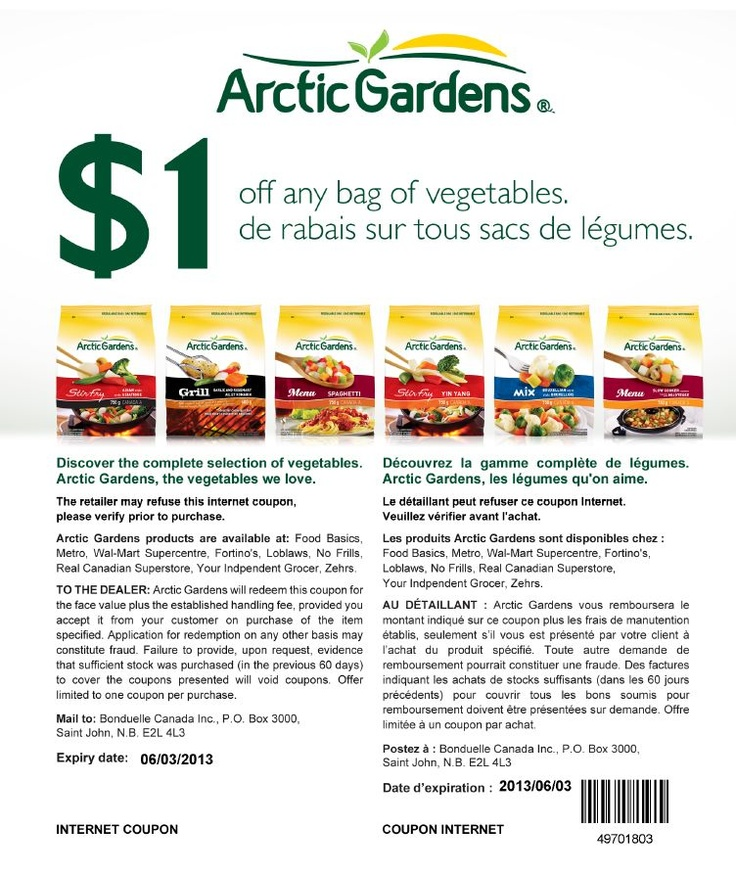 Artic gardens $1 Off Coupon