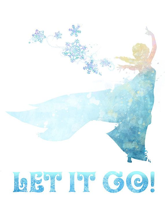 Let it Go Frozen 8x10 Poster DIGITAL by LittoBittoEverything