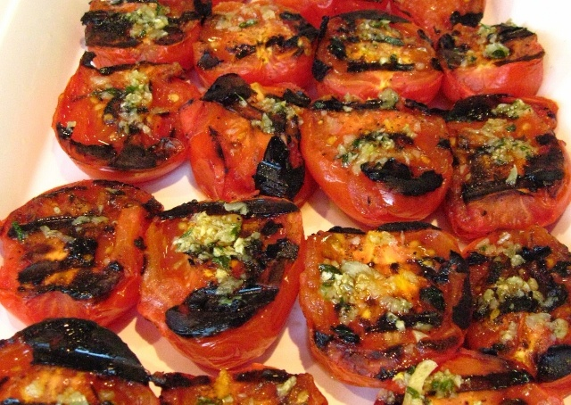 Juicy Garlic Grilled Tomatoes - Easy Recipe - Click on image for step-by-step instructions