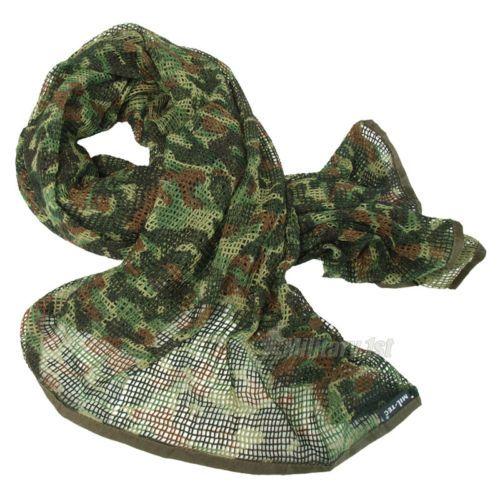 TACTICAL SCRIM NET MILITARY SCARF COMBAT FACE VEIL BW ARMY SORGO FLECKTARN CAMO | eBay