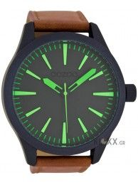 OOZOO timepieces brown leather C6072