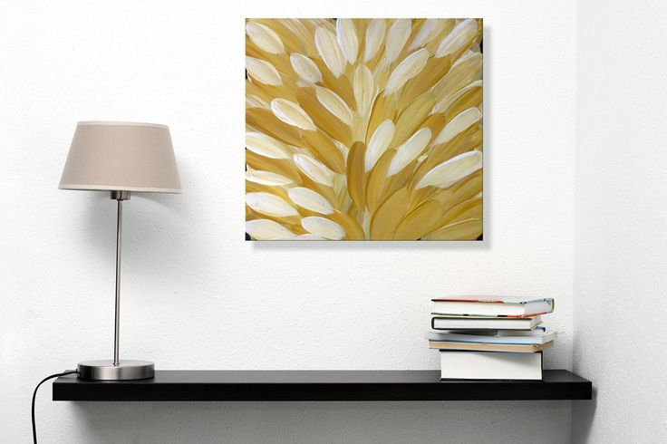 Gloria Petyarre never ceases to amaze with her 'Leaves' pieces, and this is no exception! Earthy yellow colours match perfectly with beige and white tones, giving a real pop of colour that attracts the eyes.   Yellow artwork has the power to instantly transform a subtle space into an art lovers' delight!