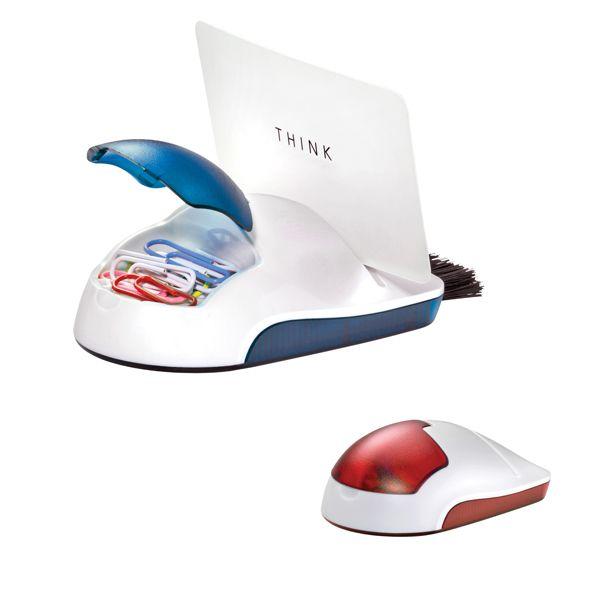 COD.EO033 Porta clip, porta tarjetas y cepillo para limpiar el teclado de la PC. (Incluye clips)